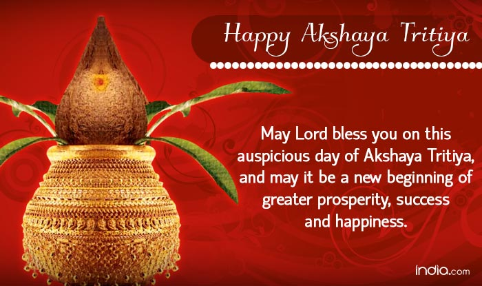 Happy akshaya tritiya 2016 wishes best akshaya tritiya sms messages whatsapp reads may lord bless you on this auspicious day of akshaya tritiya and may it be a new beginning of greater prosperity success and happiness m4hsunfo