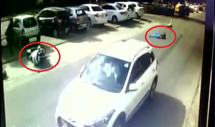 Caught On Camera Cctv Captures Horrific Road Accident In Ahmedabad