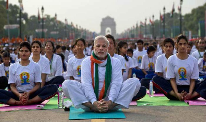 Image result for modi yoga