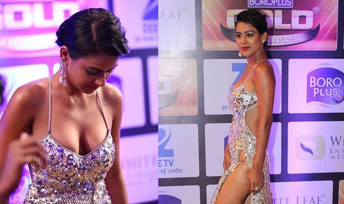 Hotness Alert! Jamai Raja actress Nia Sharma flaunts hot body in revealing outfit at Zee Gold ...