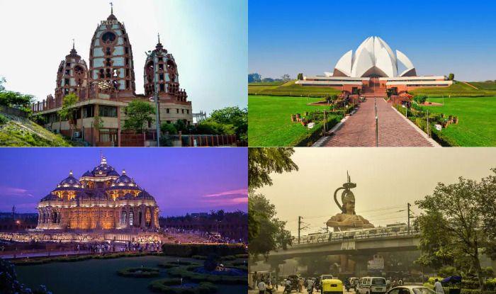 Delhi temples, Lotus Temple, Akshardham Temple, Hanuman Mandir, Birla Mandir, ISKCON Temple