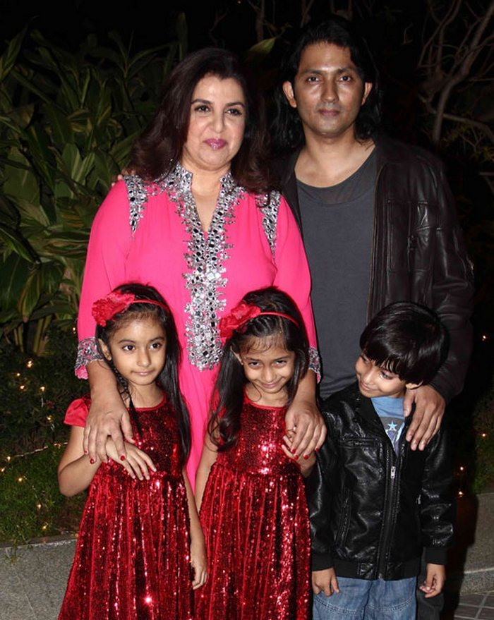 Farah Khan with shirish kunder and kids Diva Anya and Czar