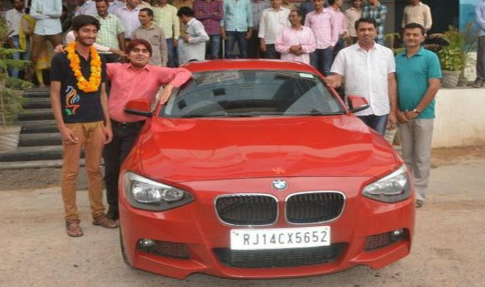 Wow Rajasthan Student Gifted Bmw Car By Coaching