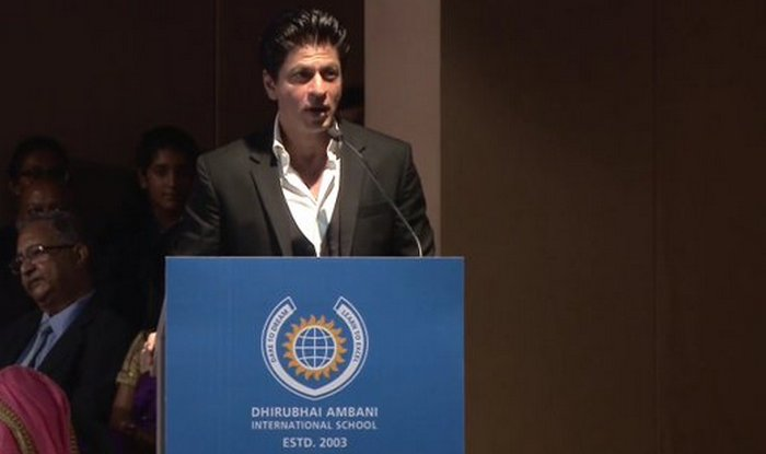 shah rukh khan at dhirubhai ambani school