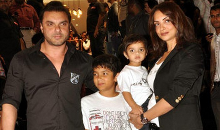 sohail khan with seema nirvaan and yohan