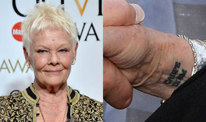 Judi Dench gets 'carpe diem' tattoo for her 81st birthday ...