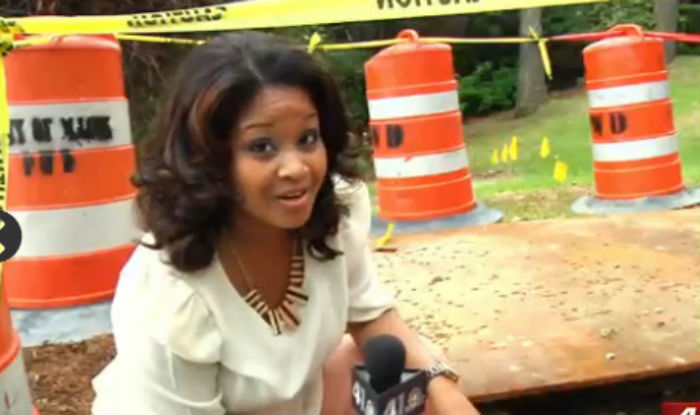 24-year-old Georgia news anchor Taylor Terrell falls to