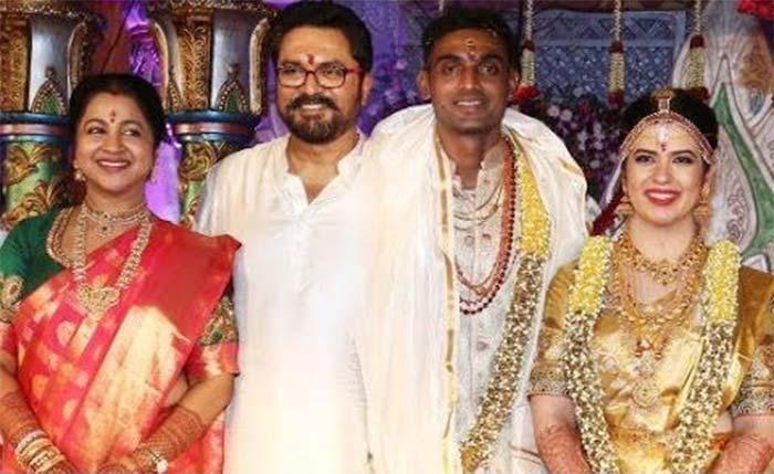 Raadhika Sarathkumars Daughter Rayane Hardy Gets Married To IPL Team RCB Player Abhimanyu Mithun