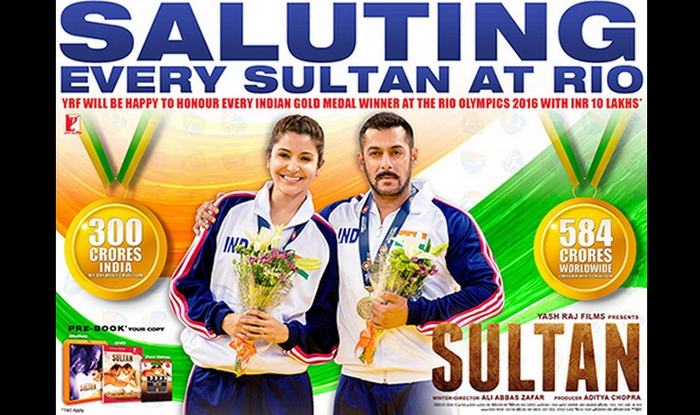 Rio Olympics 2016 And Sultan Yrf To Honour Indian Gold Medal Winners With Rs 10