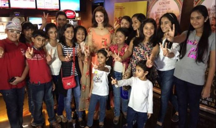 Saumya Tandon and The Voice India Kids at the special screening of Gandhi