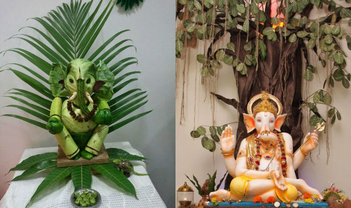 Ganesh chaturthi 2016 simple yet insanely beautiful decoration ideas for ganpati festival Ganpati decoration design for home
