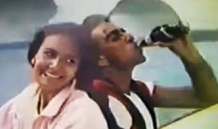salman khan with ayesha shroff in campa cola ad