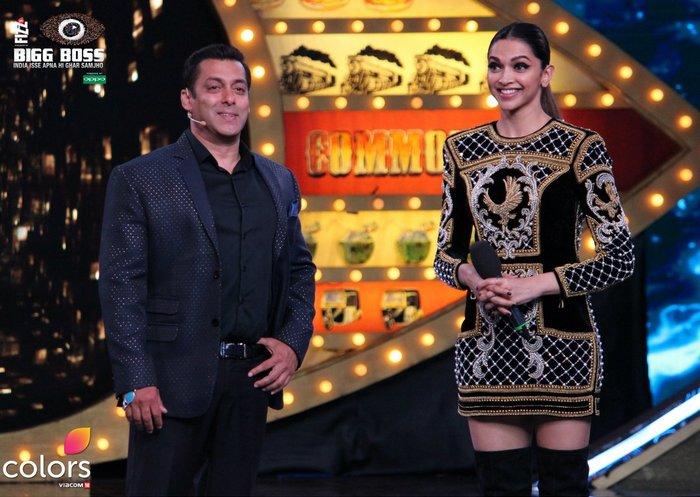 Salman Khan and Deepika Padukone on Bigg Boss 10