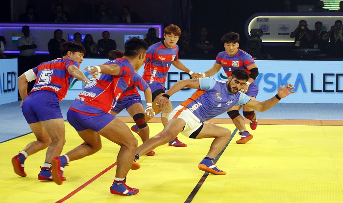 Kabaddi World Cup 2016 Points Table Scores Team Standings Match Results Korea Climb To Top Of Group A India Second Placed India Com