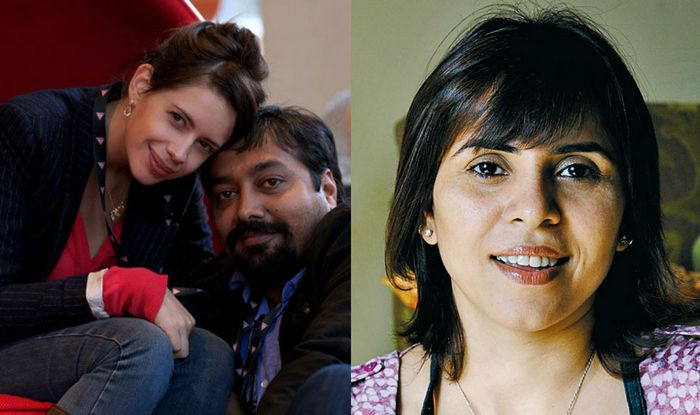 Anurag Kashyap with Kalki Koechlin and Aarti Bajaj