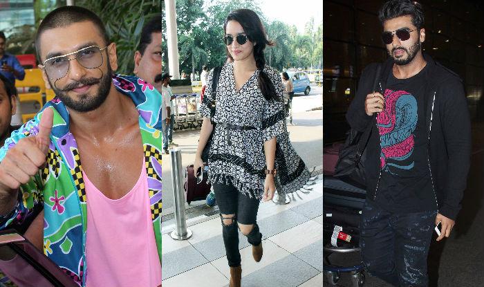 Arjun Kapoor and Ranveer Singh Airport Style