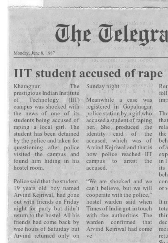 Arvind Kejriwal rape fake