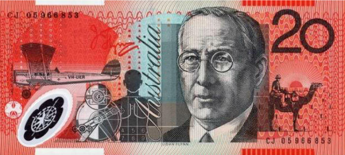 Australian 20 dollar currency