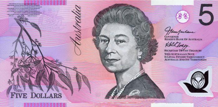Australian 5 dollar currency