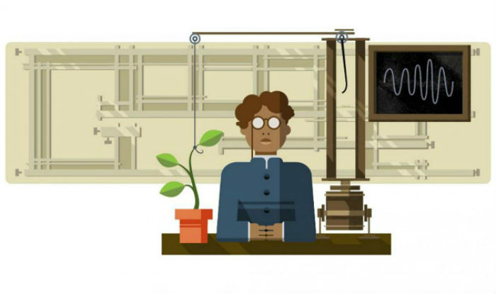 Indian scientist Jagdish Chandra Bose google doodle
