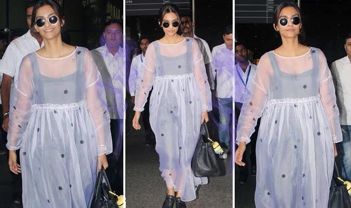 Sonam Kapoor Aiport Style