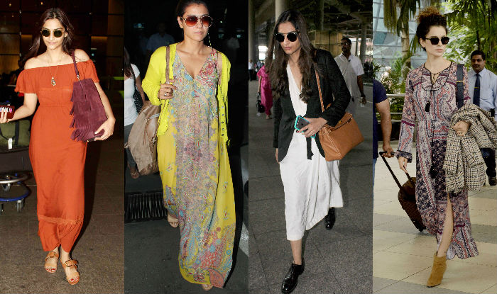 Sonam Kapoor and Kangana Airport Style