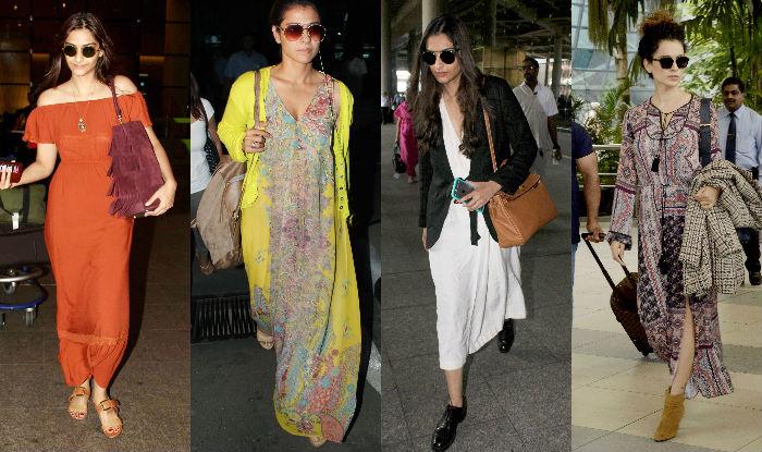 Sonam Kapoor and Kangana Airport Style