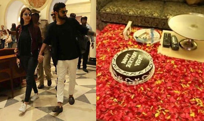 Virat Kohli Celebrates His 28th Birthday With His Ladylove Anushka Sharma India Com