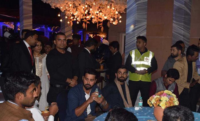 Virat Kohli at Yuvraj Singh and Hazel Keech wedding 3