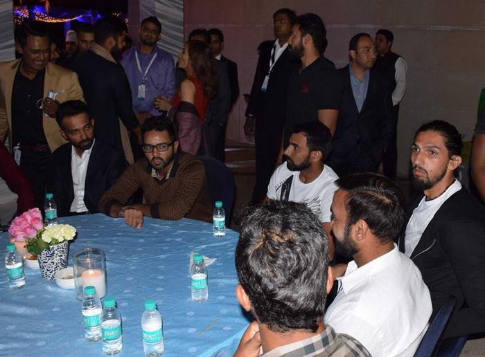 indian cricket team at yuvraj singh sangeet
