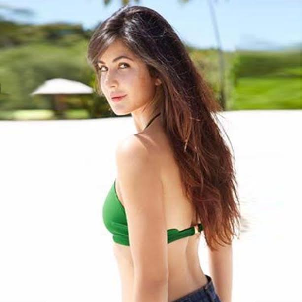 Katrina in green bikini