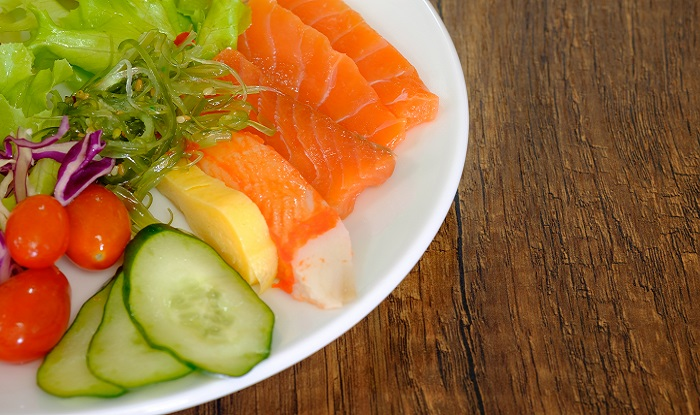 Fatty fish like salmon increase skim hydration and elasticity