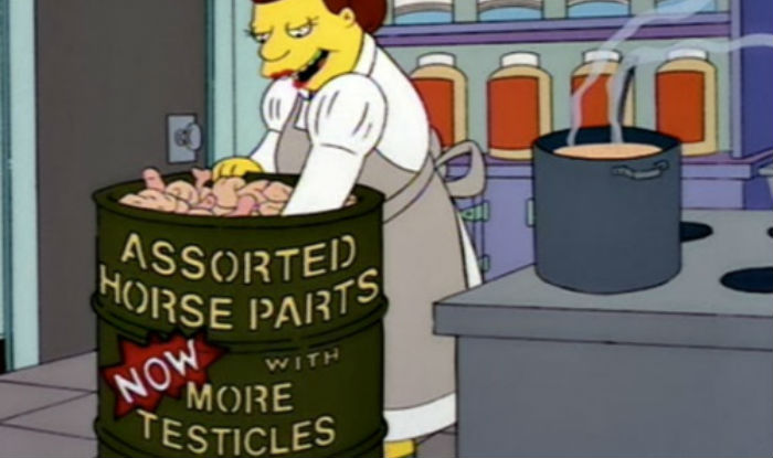 simpsons horse meat scandal