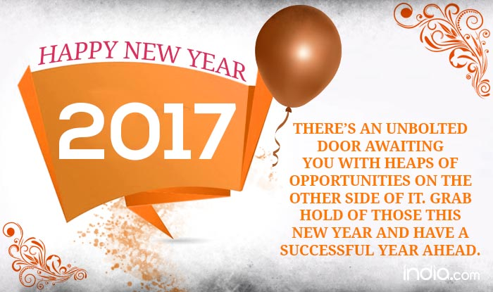 quote reads theres an unbolted door awaiting you with heaps of opportunities on the other side of it grab hold of those this new year and have a