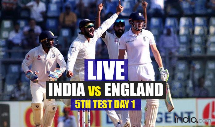 India vs england live score test match 4