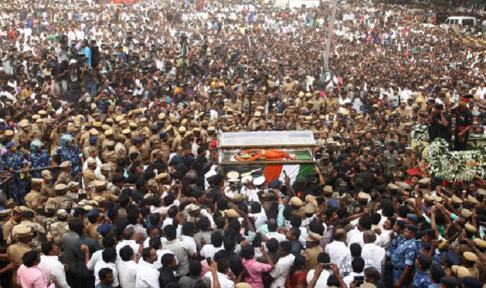 Mortal remains of Jayalalithaa being laid to rest