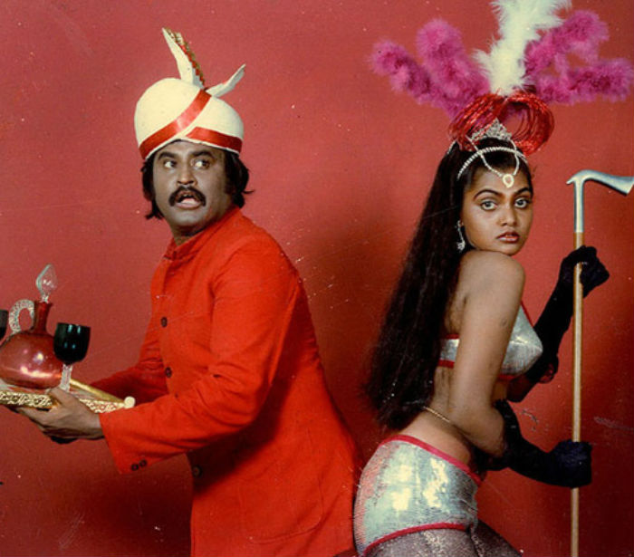 Rajinikanth and Silk Smitha1