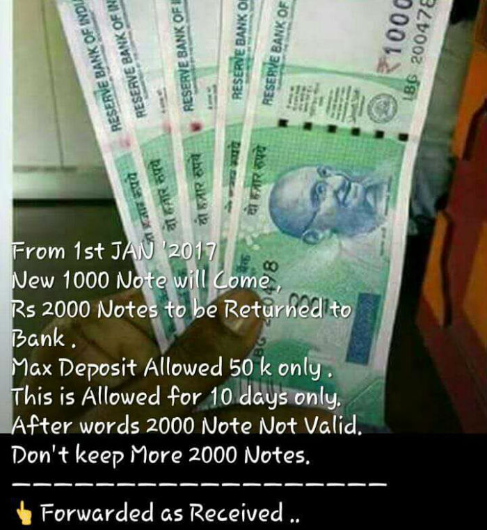 Rs 1000 note image viral picture whatsapp