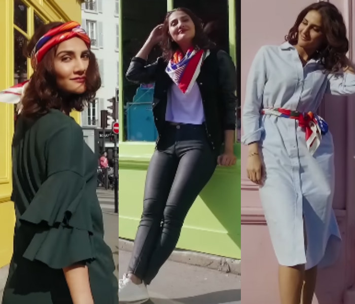 Vaani Kapoor in Befikre French scarfs