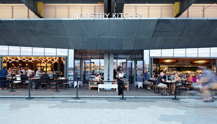 Industry Kitchen in New York where the gold-plated pizza is available. Credits: industry-kitchen.com