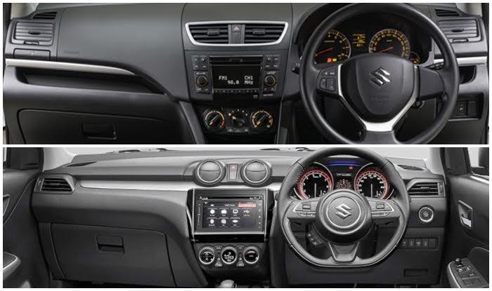 Suzuki Swift 2017 - New vs Old Interiors