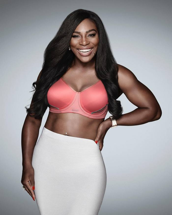 0221b6ad27fd2 Tennis star Serena Williams shows us how to make sports bra look oh ...