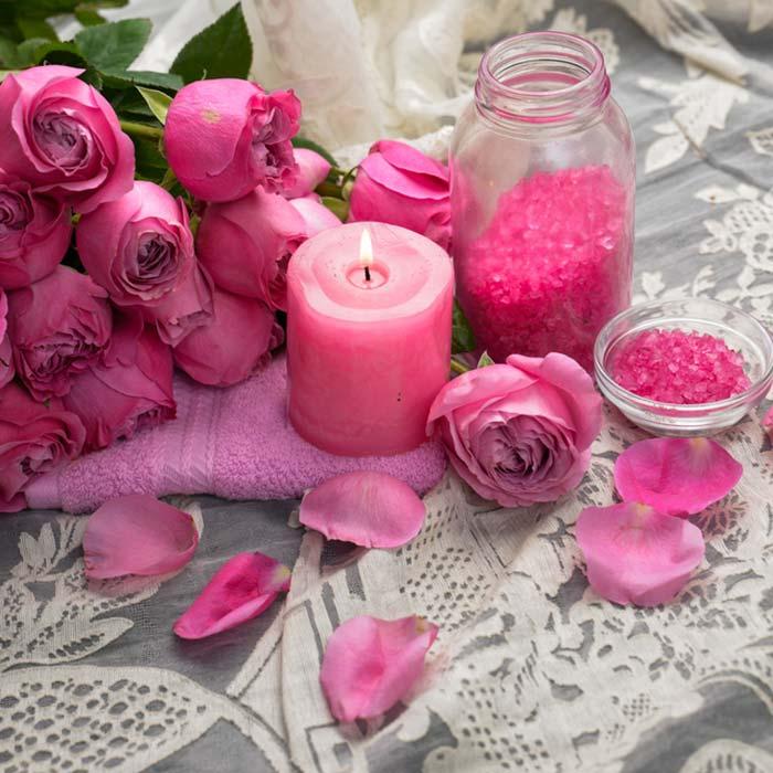 Use rose petals