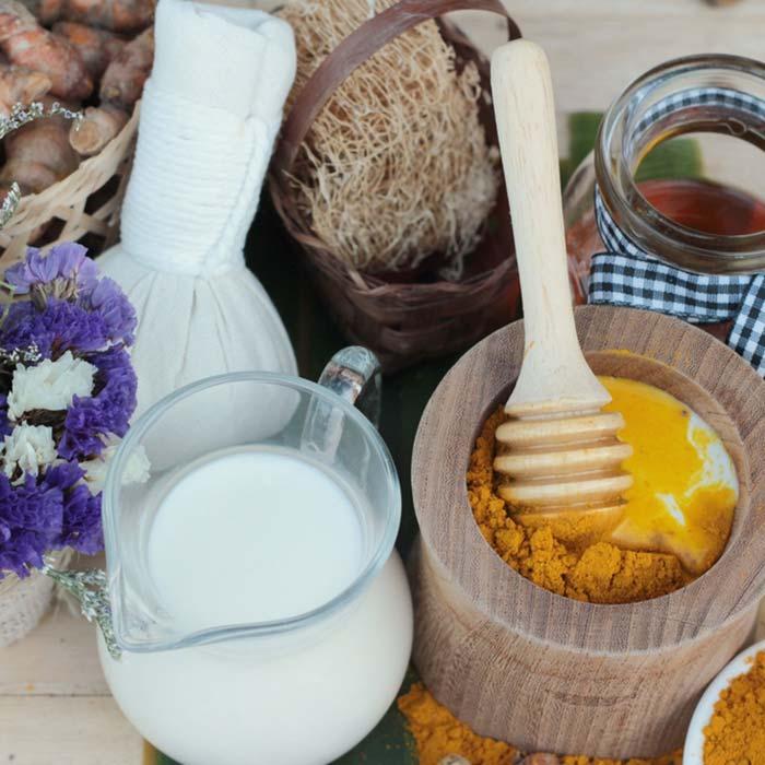 Use turmeric and milk