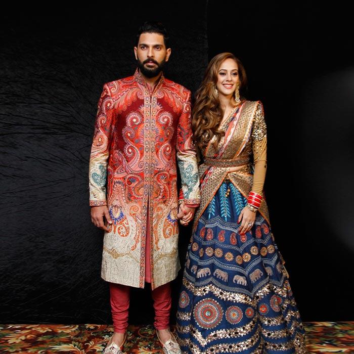Yuvraj Singh And Hazel Keechs Delhi Wedding Reception Outfits Are