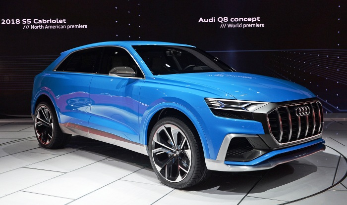 audi q8 concept showcases in detroit production model to come in 2018. Black Bedroom Furniture Sets. Home Design Ideas