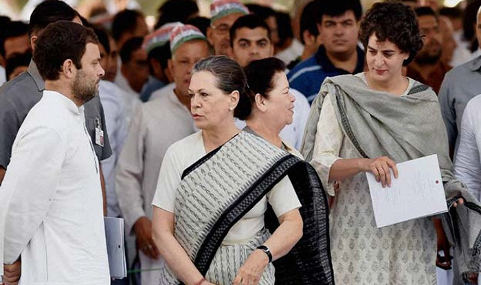Image result for photo of rahul, priyanka and sonia