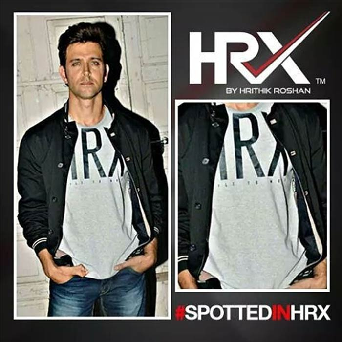 3b6c98ed1cc Mixing cool with the dapper and making it look sexier than ever, Hrithik  Roshan paired his HRX tee with a bomber jacket.