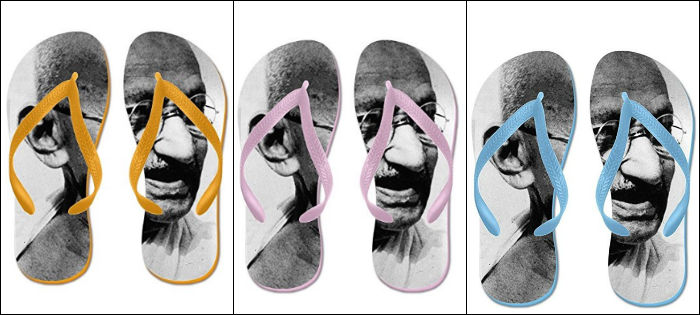Mahatma Gandhi Slippers Sold On Amazon After Indian Flag