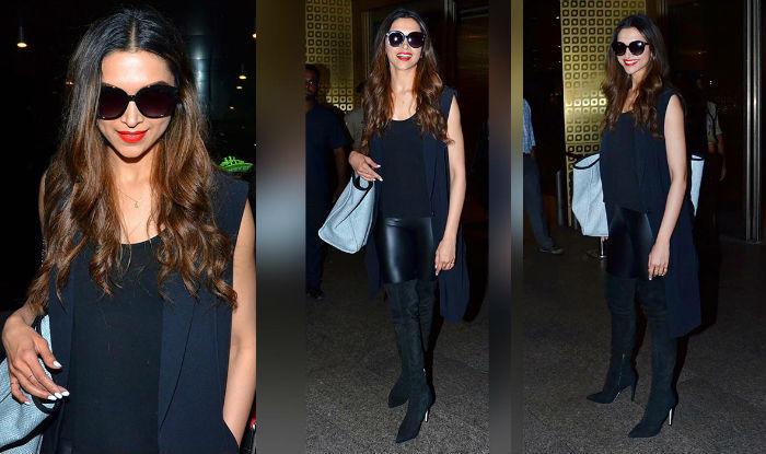 Deepika In All black